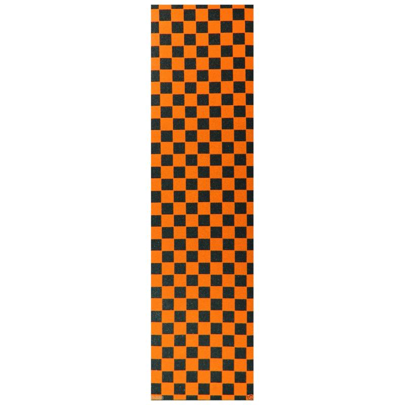 EBONY GRIP PLAQUE CHECKER BLACK ORANGE