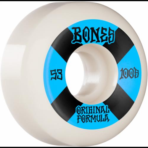 BONES WHEELS (JEU DE 4) 100'S 53MM V5 4 WHITE SIDECUT