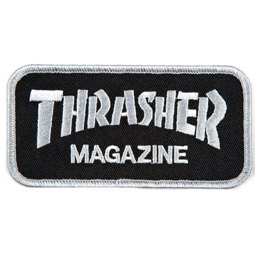THRASHER PATCH LOGO GREY BLACK