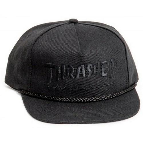 Thrasher Snapback Cap Rope Snapback Black/Black O/S