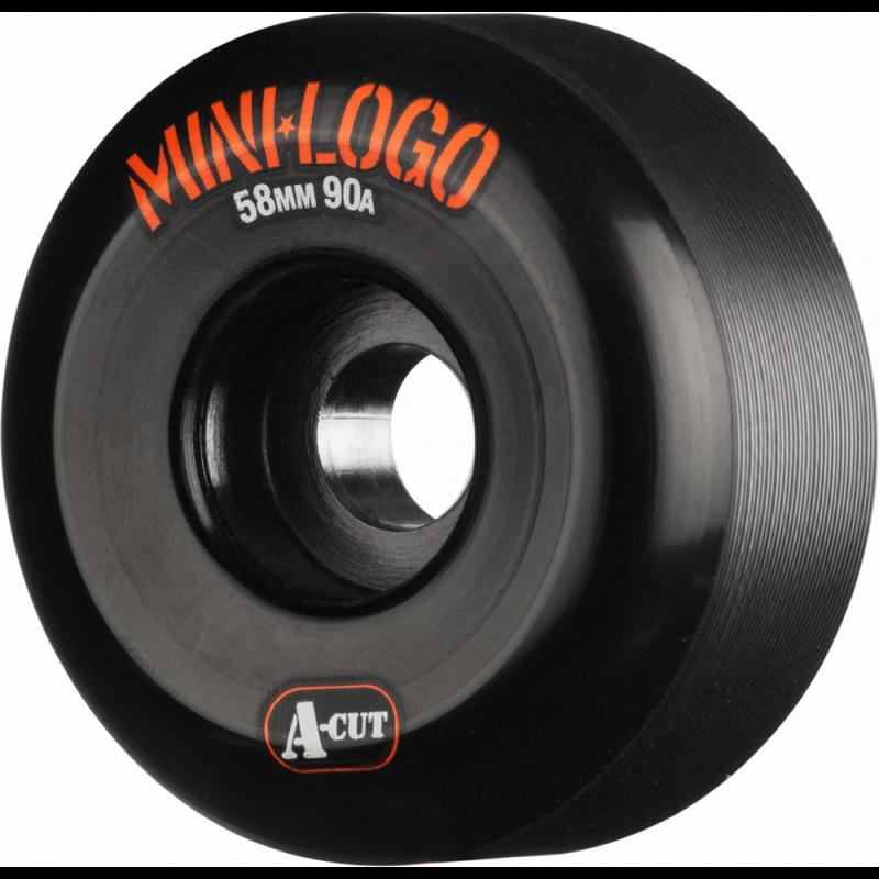MINI LOGO WHEELS (JEU DE 4) 58MM A-CUT 90A HYBRID BLACK