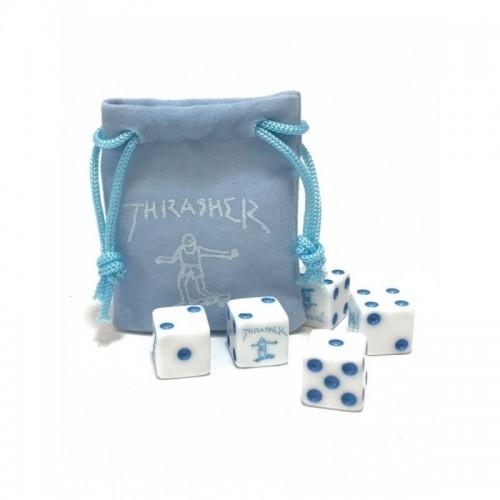 THRASHER DICE SET BLUE