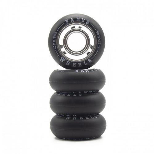 FAMUS Wheels Silver Black 60/88A  /ROLLER inline